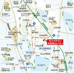 ダイワタウン大阪狭山シティ(第2期):案内図