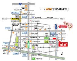 コモンライフ東川口【建築条件付土地】:案内図