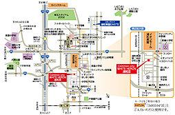 コモンシティWHITE HERON浦和III【建築条件付土地】:案内図