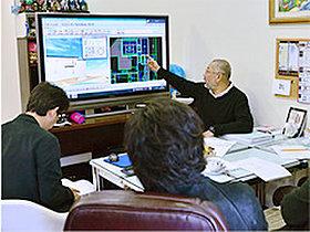 当社専属の設計士が3D画像を用いて、間取りの打ち合わせ