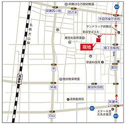 TOSCO 北名古屋鹿田合田:交通図
