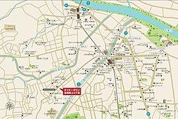 ダイドー分譲土地「宝塚・野上」~敷地面積50坪の整形地~:案内図