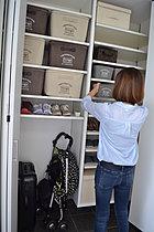 広い土間収納で、靴も沢山入って玄関がすっきり。