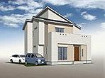 「設計士と創り出す魅力の住まい」 青空に映える美しく印象的な外観デザイン