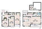 【4号棟】約2.5帖 ロフト付、収納充実。日当たりがよく、人目も気にならない2階リビング。LDKは広々20.75帖。人気の対面式キッチン。水廻りを集約させた機能的な家事動線。南側バルコニー設置。