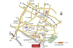 コモンガーデン本庄早稲田の杜・宅地【建築条件付土地】:案内図