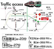 東生駒駅から難波へ約23分。通勤通学もラクラク♪