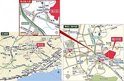 桜の杜:交通図