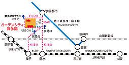 【パナホーム】ガーデンシティ舞多聞<宅地>(建築条件付):交通図