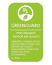 グリーンガード認証『世界初の取得。世界基準の空気質の証』