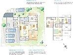 建物プラン例 建物面積118.41m2 ●プラン名中と外を繋げるアウトドアリビングのある家 ○広い敷地を活かし中と外にあるリビングが週末の楽しみを広げます。