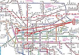 大阪市内主要ビジネスエリアへらくらくアクセス