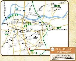 【東宝ホーム】サニーガーデン久留米市国分:交通図
