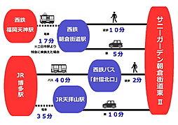 サニーガーデン朝倉街道東 I I:交通図