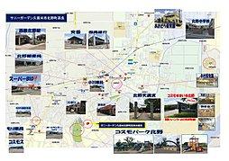 サニーガーデン久留米市北野町高良:案内図