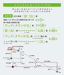 マグノリアゆりのき台:交通図