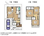 D-stage 奥天神 ~モデルハウスプラン~ 敷地約30坪の2階建住宅