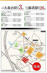 プランタンエコヒルズ蘇我~太陽と暮らす街~【太陽光発電×セキュリティー】~全67宅地の大型分譲地:案内図