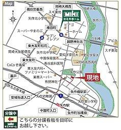 矢作ガーデン :ミキホーム: 国産の愛知県産無垢材にこだわる自然素材の家:交通図