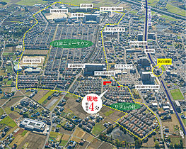 区画整理された美しい街並みが続く白岡ニュータウン