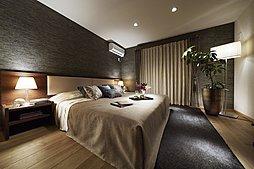 落ち着きのある主寝室では、優雅さと心地よさを同時に享受。伸びやかな空間で一日の終わりをゆったりとお過ごしいただけます。(※モデルハウス画像)