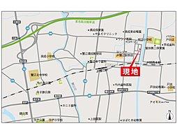 グリーンパークJR蟹江駅北I:交通図