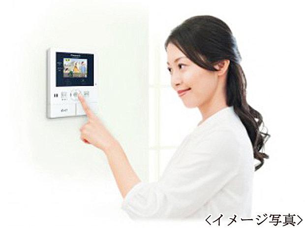 【TVモニター付インターホン】来訪者の顔を確認できるので安心です。防犯面でも万全のTVモニター付きインターフォンです。