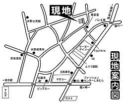 JR常磐線始発駅「取手」利用 取手市井野 ラクラク平面駐車場2台完備の4LDK:案内図