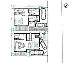参考プラン例 駐車場2台かつお庭スペース確保可能です!