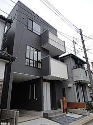 【さいたま市緑区中尾】黒を基調としたスタイリッシュモダンな外観。