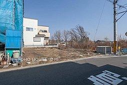 【東大和市奈良橋】建築条件なし 南道路の整形地