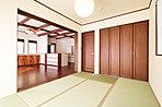 明るく続き間で使いやすい和室。