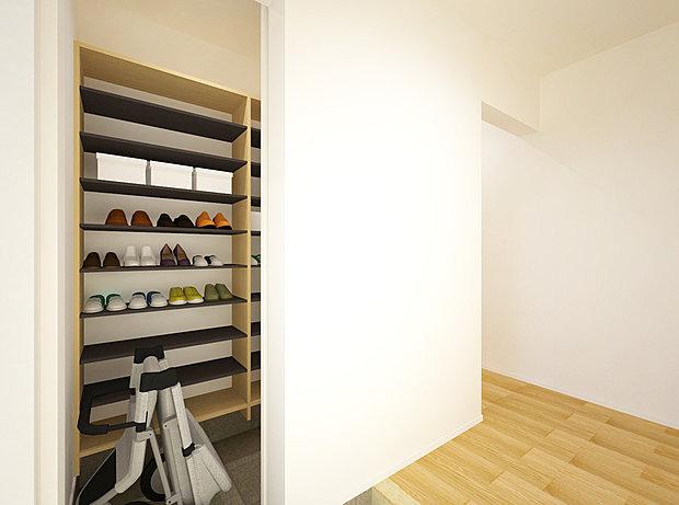 【2階洋室】2階の各洋室にはクローゼットを設置。ウォークインクローゼットや納戸もあるので収納場所がたっぷりです(No.10)
