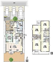 5LDKの家。2階に4部屋。家族それぞれがお部屋を確保できます。