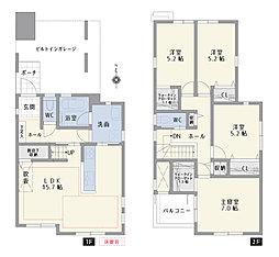 C号棟 間取図 4LDK+WIC+土間収納