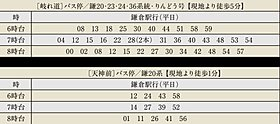 バス時刻表(朝)