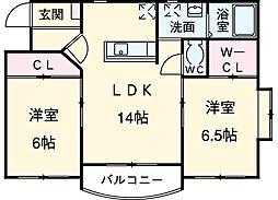 川越富洲原駅 6.5万円