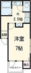 N.Lコンフォーティア 1階1Kの間取り