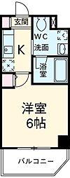 東京メトロ副都心線 雑司が谷駅 徒歩7分の賃貸マンション 1階1Kの間取り