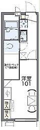 JR東海道本線 三島駅 バス20分 松本下車 徒歩9分の賃貸アパート 1階1Kの間取り