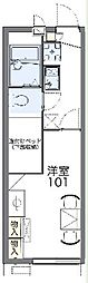 JR東海道本線 三島駅 バス20分 松本下車 徒歩9分の賃貸アパート 2階1Kの間取り