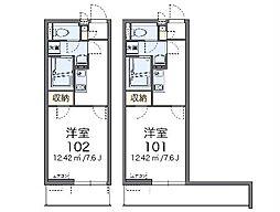 東急東横線 日吉駅 バス8分 江川町下車 徒歩4分の賃貸マンション 3階1Kの間取り