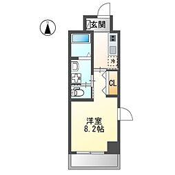 仮)熱田区波寄町マンション 3階1Kの間取り