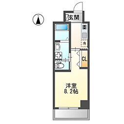 JR東海道本線 金山駅 徒歩5分の賃貸マンション 4階1Kの間取り