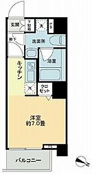 KDA SHINAGAWA OSAKI 2階1Kの間取り