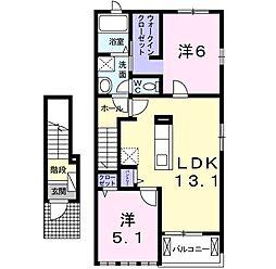 ポラリス-ai 2階2LDKの間取り