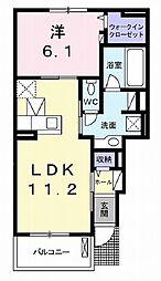 伊豆箱根鉄道駿豆線 田京駅 徒歩4分の賃貸アパート 1階1LDKの間取り