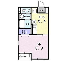 西国PLANETマンション 3階1DKの間取り
