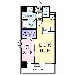 JR博多南線 博多南駅 徒歩13分の賃貸マンション 3階1LDKの間取り