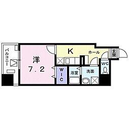 東京メトロ東西線 葛西駅 徒歩18分の賃貸マンション 4階1Kの間取り